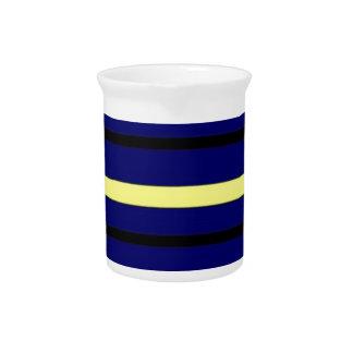 Dark Blue Derby Stripe Pitcher