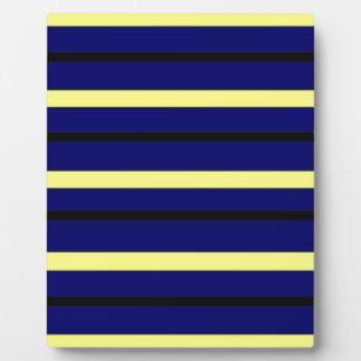 Dark Blue Derby Stripe Plaque