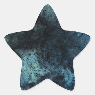 Dark blue distressed cool grunge dark background star sticker