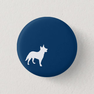 Dark Blue Dog Button