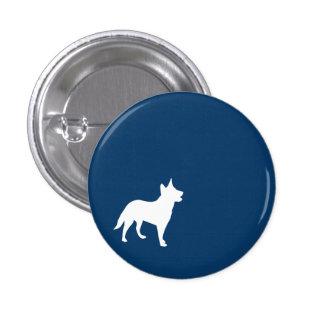 Dark Blue Dog Button