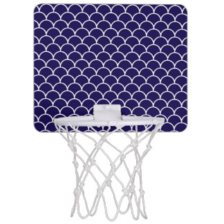 Dark Blue Dragon Scales Mini Basketball Hoop