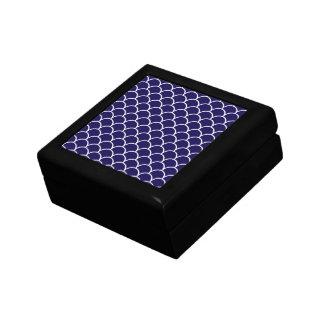 Dark Blue Dragon Scales Small Square Gift Box