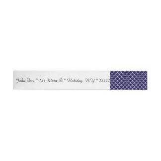 Dark Blue Dragon Scales Wraparound Address Label