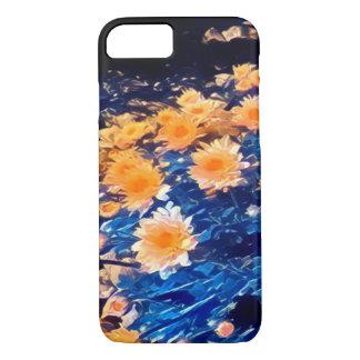 Dark blue, floral, impressionist iPhone 7 case