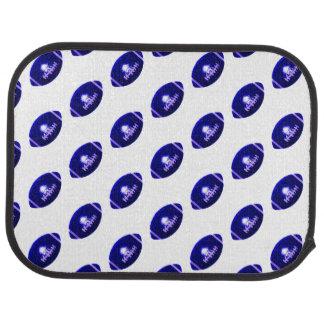 Dark Blue Football Pattern Floor Mat