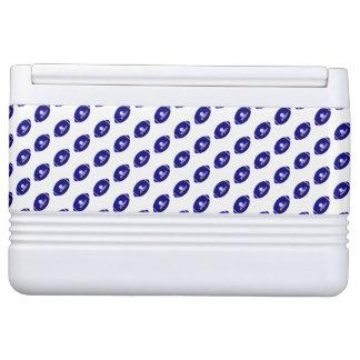 Dark Blue Football Pattern Cooler