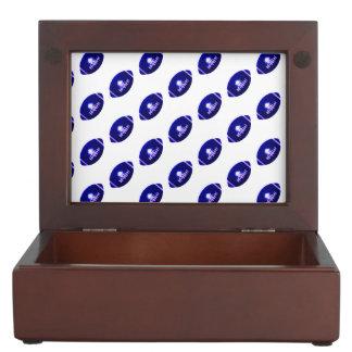 Dark Blue Football Pattern Memory Boxes