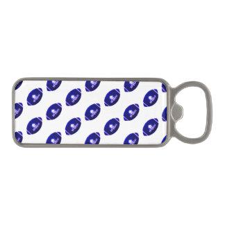 Dark Blue Football Pattern Magnetic Bottle Opener