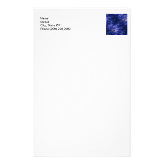 Dark Blue Fractal Personalized Stationery
