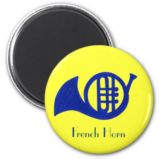 Dark Blue French Horn Band Magnet
