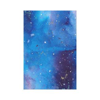 Dark Blue Galaxy Canvas Print