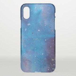 Dark Blue Galaxy iPhone X Case