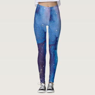 Dark Blue Galaxy Leggings