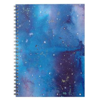 Dark Blue Galaxy Notebook