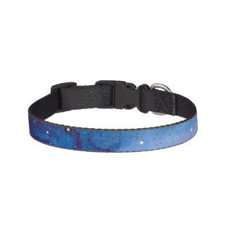 Dark Blue Galaxy Pet Collar