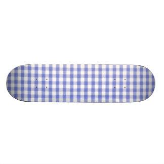Dark blue gingham pattern 19.7 cm skateboard deck