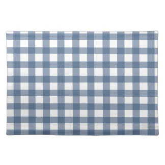 Dark Blue Gingham Placemat