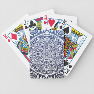 Dark Blue Gradient Mandala Pattern Bicycle Playing Cards