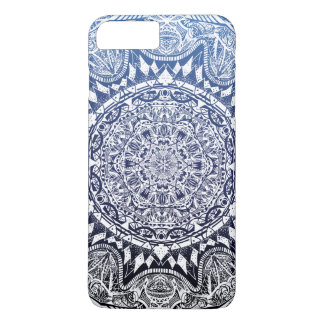 Dark Blue Gradient Mandala Pattern iPhone 8 Plus/7 Plus Case