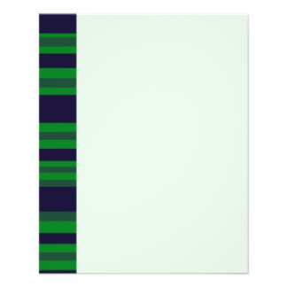 dark blue green stripes full color flyer