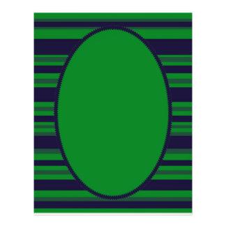 dark blue green stripes flyer design