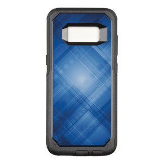 Dark blue hi-tech background OtterBox commuter samsung galaxy s8 case