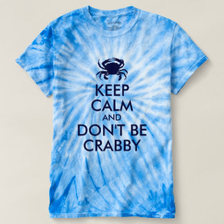 Dark Blue Keep Calm and Don't Be Crabby T-Shirt