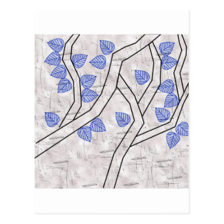 dark blue leaves postcard