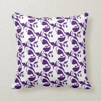 Dark Blue Luxury Pattern Print Throw Pillow
