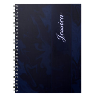 dark blue marble notebooks