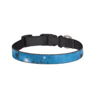 Dark Blue Marble Splat Pet Collar