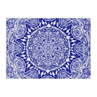 Dark Blue Mehndi Mandala Acrylic Print