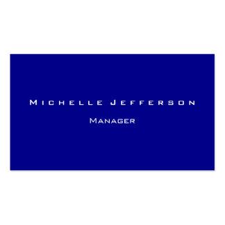 Dark Blue Modern Attractive Manager Business Card