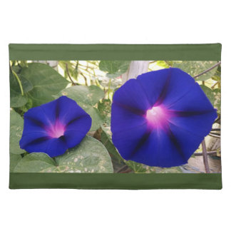 Dark Blue Morning Glory Placemat