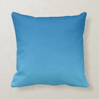 """Dark Blue Ombre"" Throw Pillow"