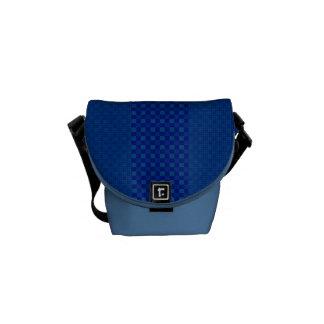 Dark Blue on Blue Stripes Rickshaw Messenger Bag