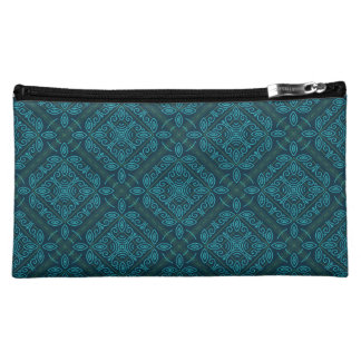 Dark Blue Pattern Cosmetic Bag