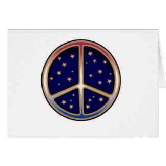 DARK BLUE PEACE SIGN CARD