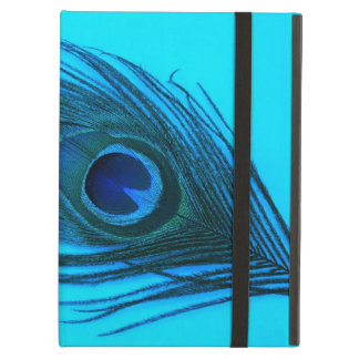 Dark Blue Peacock Feather iPad Air Covers