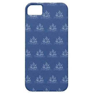 Dark Blue Pirate Ship Pattern. iPhone 5 Covers