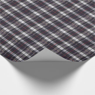 Dark Blue Plaid Gift Wrapping Paper