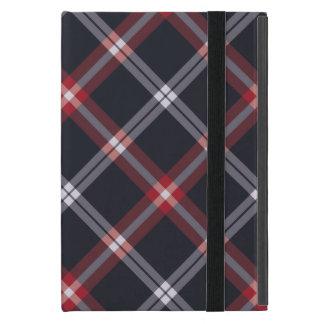 Dark Blue Plaid iPad Mini Covers
