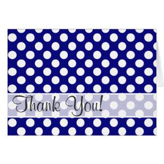Dark Blue Polka Dots Note Card