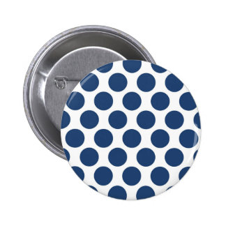 Dark Blue Polkadot Button