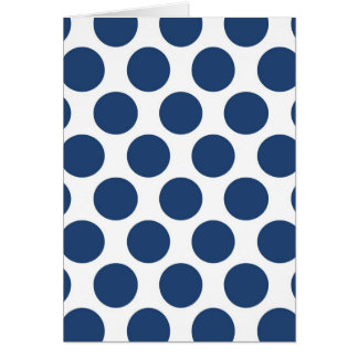 Dark Blue Polkadot Card