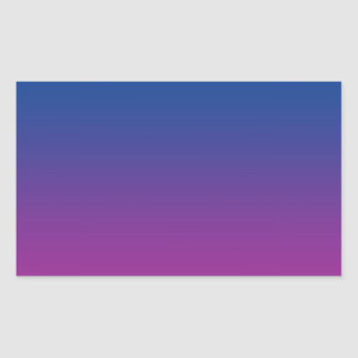 Dark Blue & Purple Ombre Rectangle Stickers