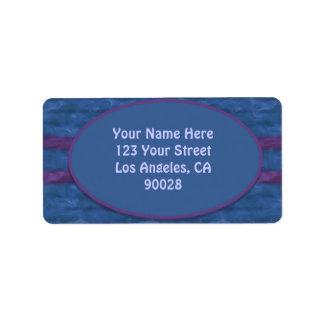 dark blue purple texture address label
