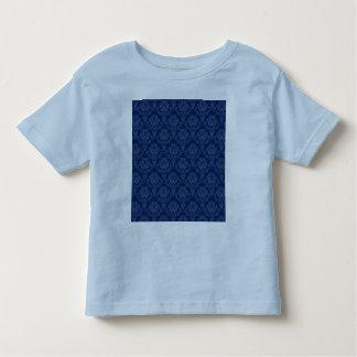 Dark Blue Retro Floral T-shirt