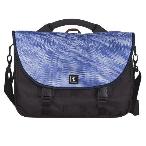 Dark Blue Ripples Computer Bag